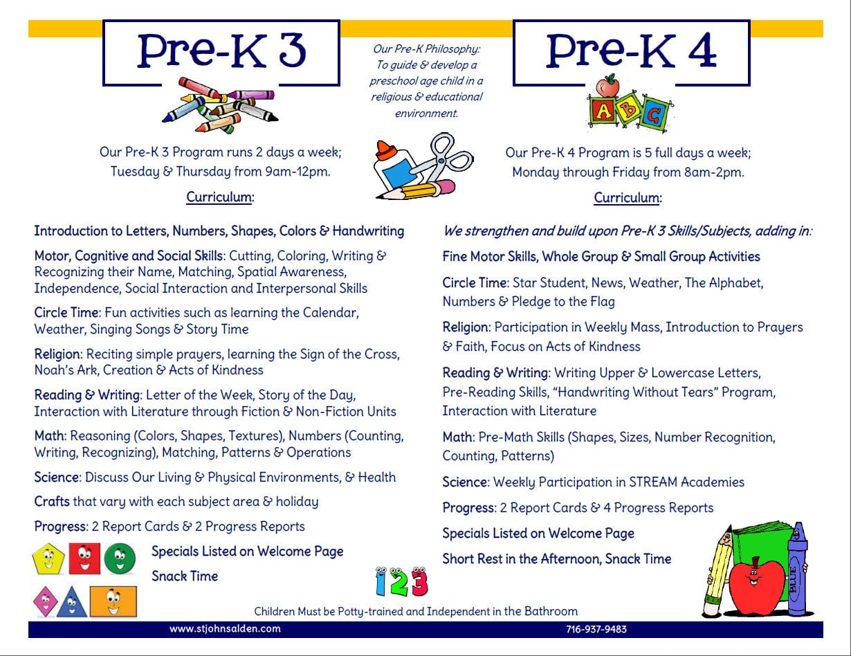 SJS Pre-K and K booklet image p2 middle